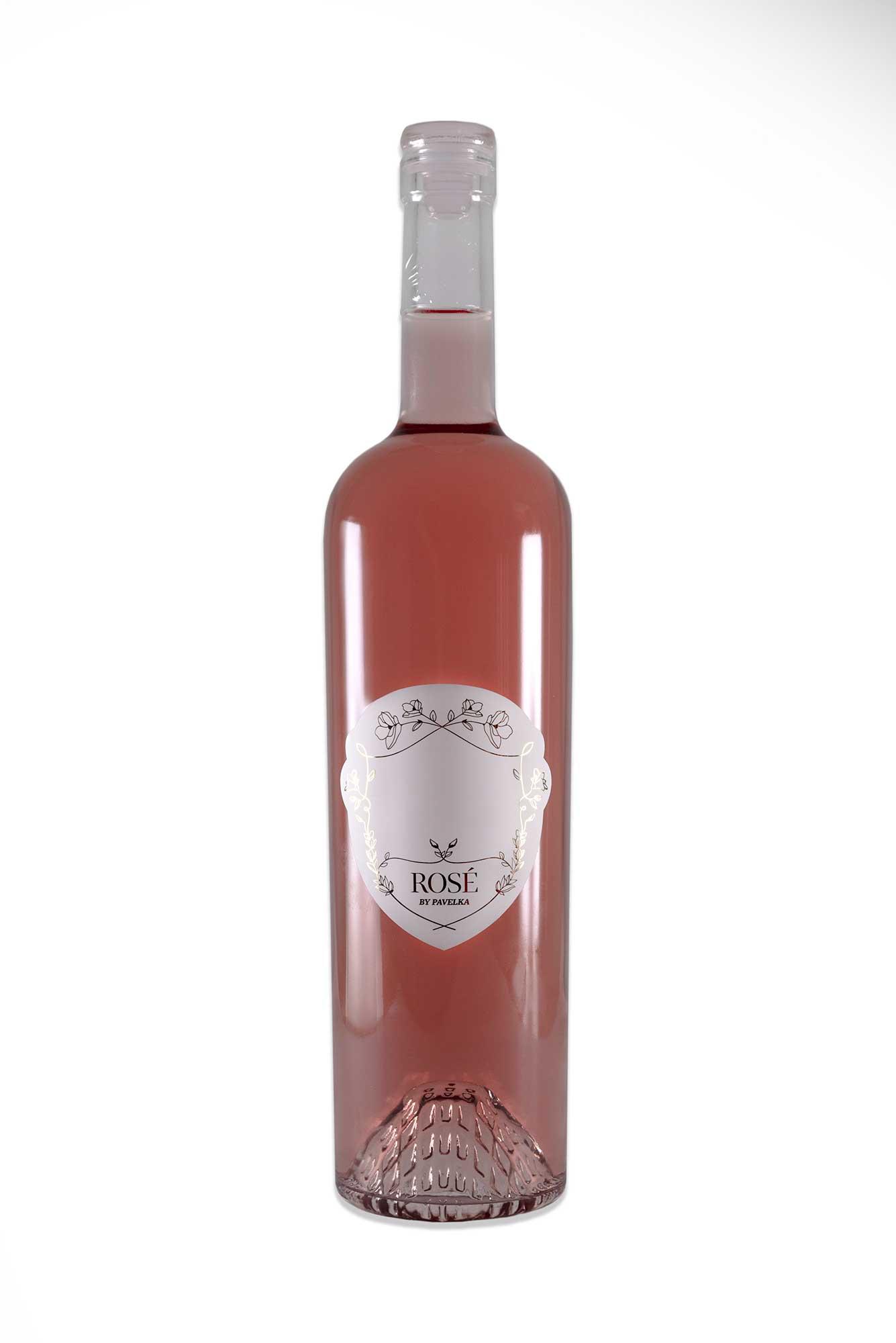 ružové víno ONA by Pavelka predná etiketa personalizovaná
